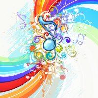 دانلود وکتور پس زمینه رنگی موزیک