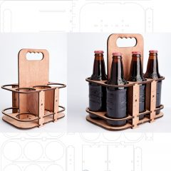 طرح برش لیزری بسته بندی بطری نوشابه