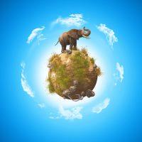 دانلود تصویر استاک فیل و کره زمین