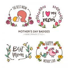 دانلود وکتور مدل های روز مادر تزئینی