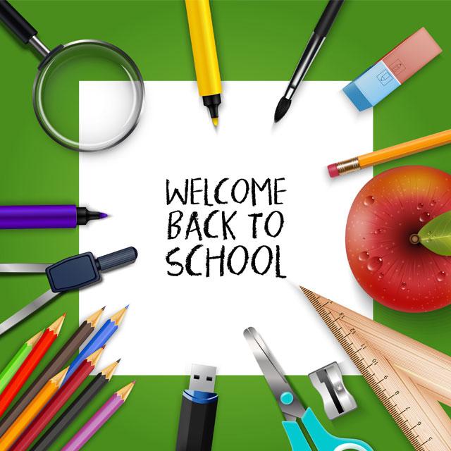 دانلود وکتور خوش امدگوی بازگشت به مدرسه