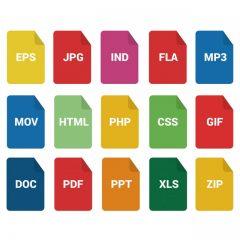 فرمت های تصاویر و فایل های ویدئو