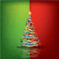 دانلود وکتور درخت کریسمس فانتزی طرح دار