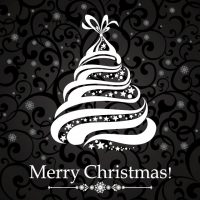 دانلود وکتور درخت کریسمس خامه ای