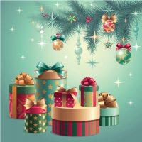 دانلود وکتور جعبه کادو کریسمس میلادی