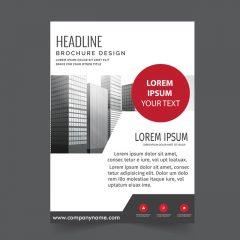 دانلود طرح لایه باز بروشور صنعتی چاپی شیک