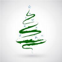 دانلود وکتور کریسمس درخت رنگی سبز فانتزی کاج