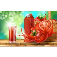 دانلود وکتور ابمیوه طبیعی گوجه فرنگی
