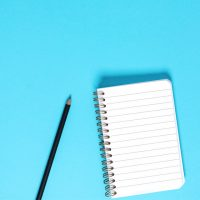 دانلود تصاویر استوک دفترچه یادداشت و مداد مشکی