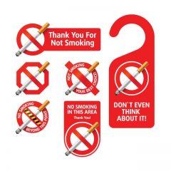 دانلود وکتور لیبل سیگار کشیدن ممنوع