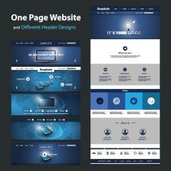 دانلود وکتور قالب صفحه اصلی و هدر سایت