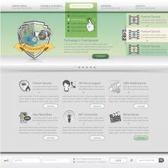 دانلود وکتور رابط کاربری طراحی قالب سایت فیلم