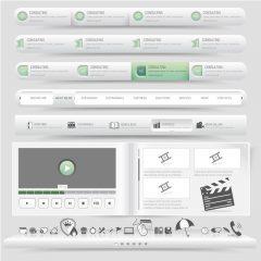 دانلود وکتور رابط کاربری اجزای طراحی قالب
