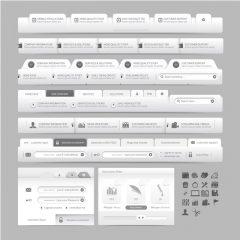 دانلود وکتور رابط کاربری طراحی قالب و هدر سایت