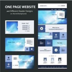 دانلود طراحی قالب سایت با هدر مخصوص