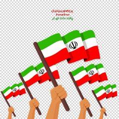 دانلود فایل دوربری شده پرچم ایران با کیفیت عالی در ابعاد 6000 در 6000
