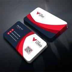 دانلود طرح لایه باز کارت ویزیت شرکتی و شخصی خلاقانه قرمز