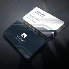 دانلود طرح لایه باز کارت ویزیت شرکتی و شخصی با تم رنگی مشکی