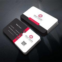 دانلود طرح لایه باز کارت ویزیت شرکتی و شخصی با تم رنگی قرمز و مشکی