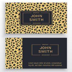 دانلود طرح لایه باز کارت ویزیت شرکتی و شخصی با تم رنگی طلایی و مشکی
