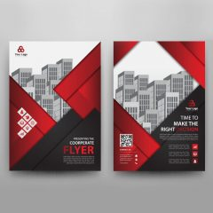 دانلود طرح لایه باز گرافیکی بروشور تجاری با فونت لاتین