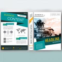 دانلود وکتور لایه باز تراکت تجاری جلد کتاب