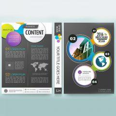 دانلود وکتور گرافیکی جلد کتاب با طراحی شیک