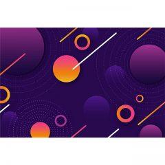 دانلود وکتور پس زمینه انتزاعی رنگی طرح لایه های اتمی