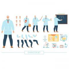 فایل لایه باز وکتور معلم شیمی مرد برای موشن گرافیک و انیمیشن