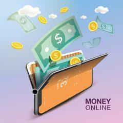 دانلود پوستر تجارتی وکتور لایه باز 3بعدی پول و سکه طلا گرافیکی زیبا