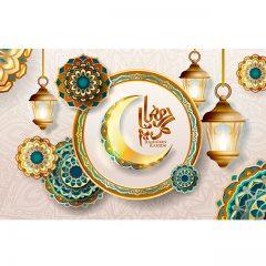 پوستر گرافیکی ماه رمضان
