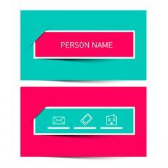دانلود طرح لایه باز کارت ویزیت شخصی شرکتی با تم رنگ صورتی و آبی