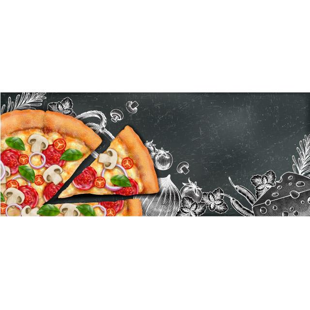 دانلود طرح وکتور لایه باز پیتزا