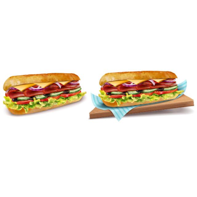 دانلود وکتور ساندویچ سوسیس با طراحی زیبا و جذاب