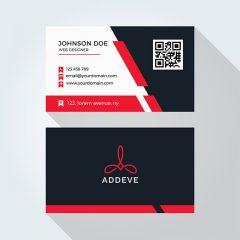 دانلود طرح لایه باز کارت ویزیت شرکتی و شخصی با رنگبندی قرمز و مشکی و سفید