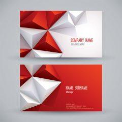 دانلود طرح لایه باز گرافیکی کارت ویزیت لایه باز قرمز با طرح 3 بعدی