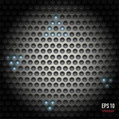 دانلود تصویر پس زمینه سه بعدی طرح دایره مشکی زیبا
