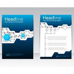 کاتالوگ لایه باز تجاری با طرح اعداد و نمودار