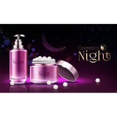 تصویر لایه باز محصولات لوازم آرایشی و بهداشتی مخصوص شب