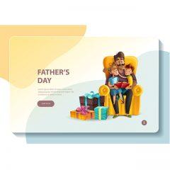 دانلود پوستر خاص وکتور لایه باز مناسبتی روز پدر طرح کارت ویزیت