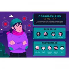 ویروس کرونا با طرح انتشار ویروس در هوا