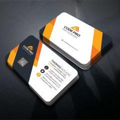 دانلود فایل فتوشاپ لایه باز طرح مدرن کارت ویزیت شرکتی