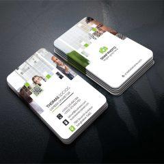 دانلود طرح لایه باز کارت ویزیت شرکتی و شخصی با تم رنگی روشن