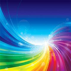 دانلود وکتور پس زمینه ابسترکت رنگین کمانی زیبا