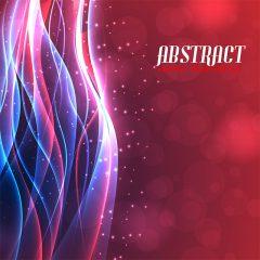 دانلود وکتور پس زمینه ابسترکت با رنگ قرمز و حاشیه رنگارنگ