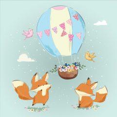 دانلود آبرنگ وکتور حیوانات کودکانه سنجاب های زیبا