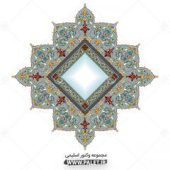 دانلود وکتور المان اسلیمی طرح 4 گوشه زیبا