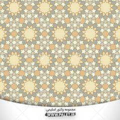 الگوی هندسی رنگارنگ اسلامی تصویر وکتور