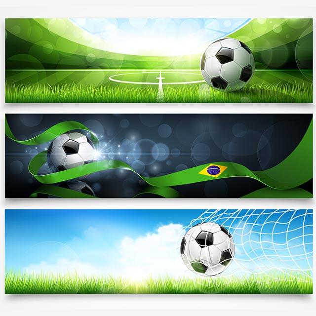 مجموعه بنر وکتور با موضوع فوتبال