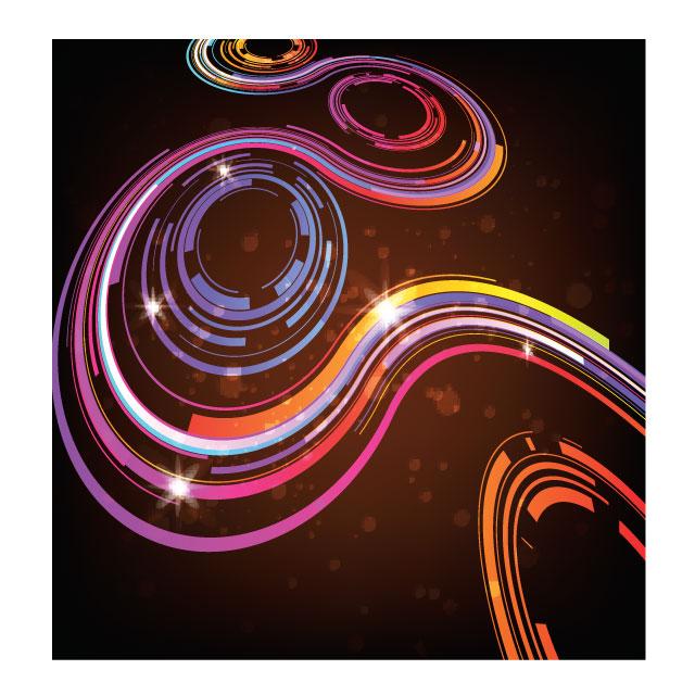 وکتور انتزاعی رنگی حلقوی